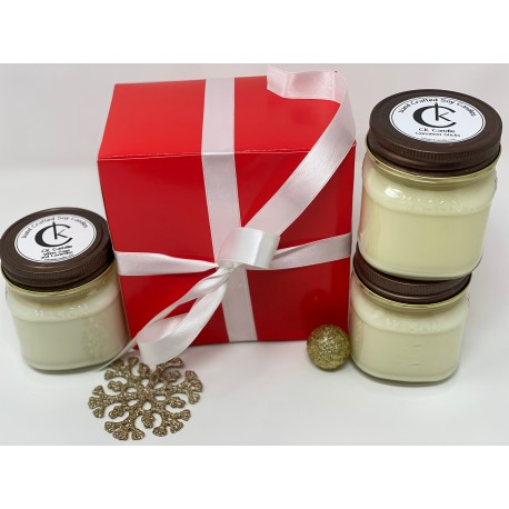 Gift Box includes 3 candles